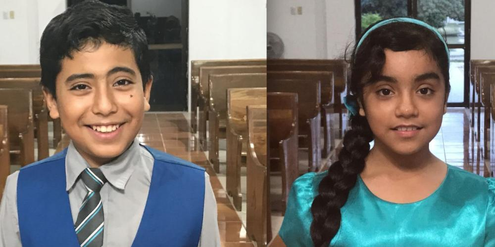 Jerson Makhwani, 12, and his sister, Dalisa, 10. (Andrew McChesney / Adventist Mission)