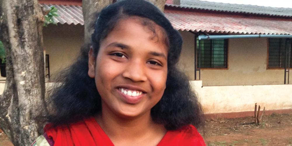 Arpita Bhosale is a 14-year-old student at the Alate Seventh-day Adventist School in western India. (Andrew McChesney / Adventist Mission)