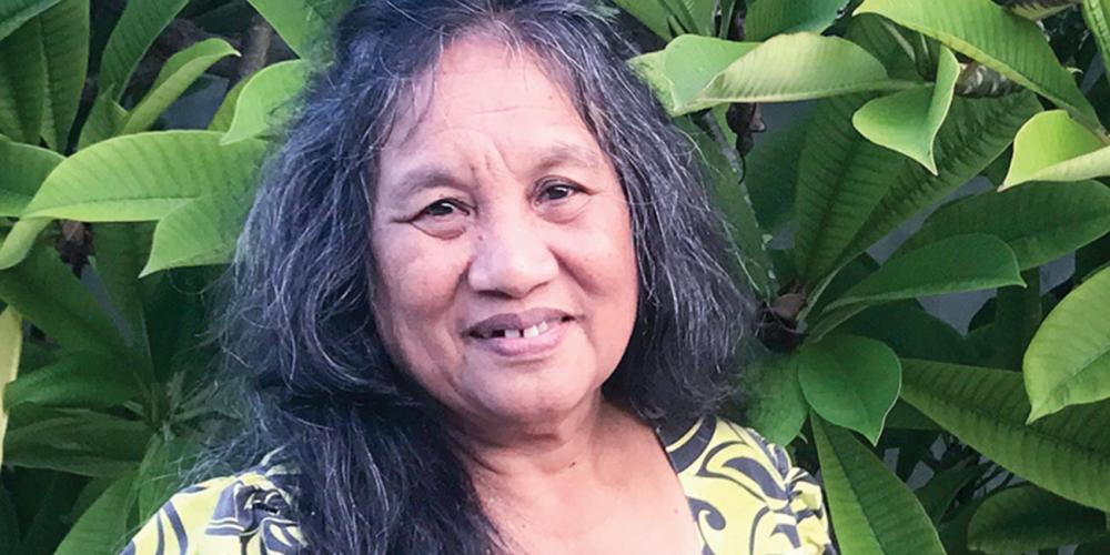 "Nojab Lemari, 66, the first Adventist on Ebeye Island, says, ""I have had some trials, but whenever there is a roadblock, God opens a way."" (Andrew McChesney / Adventist Mission)"